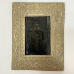Other - Antique Tintype Trench Coat Photograph Paper Frame
